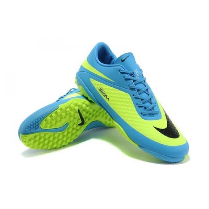 Футзалки Nike HyperVenom, голубой с зеленым